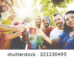 friend celebrate party picnic... | Shutterstock . vector #321230495
