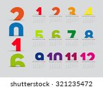 simple 2016 calendar  2016... | Shutterstock .eps vector #321235472