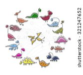 dinosaurs collection  sketch... | Shutterstock .eps vector #321247652