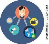 referral marketing concept....   Shutterstock .eps vector #321248555