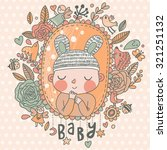 newborn baby card in light... | Shutterstock .eps vector #321251132