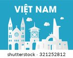 vietnam skyline silhouette flat ... | Shutterstock .eps vector #321252812