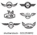 collection of six monochrome... | Shutterstock .eps vector #321253892