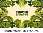 jungle background. vector... | Shutterstock .eps vector #321254396