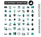 internet marketing icons | Shutterstock .eps vector #321271502