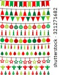 christmas buntings and garlands | Shutterstock . vector #321271682