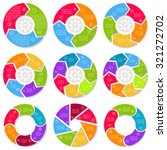 big set of round infographic...   Shutterstock .eps vector #321272702