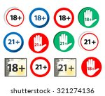vector set   under 18  under 21.... | Shutterstock .eps vector #321274136