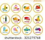 flat icons food  supermarket | Shutterstock .eps vector #321275768