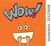wow  comic speech bubble.... | Shutterstock .eps vector #321276638