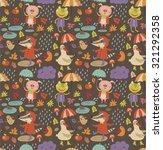 joyful autumn pattern   Shutterstock .eps vector #321292358