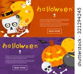 happy halloween poster  banner  ... | Shutterstock .eps vector #321294245