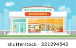 supermarket building and... | Shutterstock .eps vector #321294542
