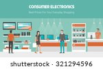 electronics store banner with...