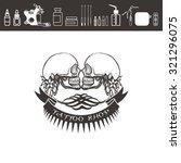 tattoo shop logo  emblem. two... | Shutterstock .eps vector #321296075