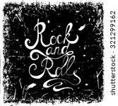 vintage hand drawn lettering... | Shutterstock .eps vector #321299162