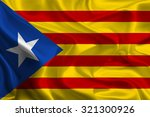blue catalan independence flag | Shutterstock . vector #321300926