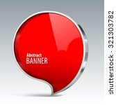 shiny gloss red vector banner.... | Shutterstock .eps vector #321303782