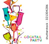 abstract multicolor cocktail... | Shutterstock .eps vector #321304286