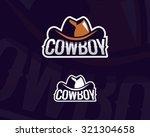 colorful cowboy hat emblem ...   Shutterstock .eps vector #321304658