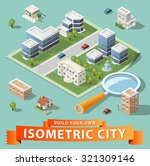 build your own isometric city.... | Shutterstock .eps vector #321309146