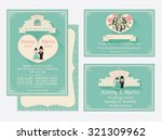 wedding invitation design with... | Shutterstock .eps vector #321309962