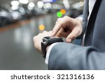 in parking car a man using his... | Shutterstock . vector #321316136