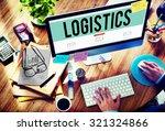 logistics freight... | Shutterstock . vector #321324866