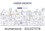 doodle style concept of career... | Shutterstock .eps vector #321327578