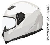 motorcycle helmet on a white... | Shutterstock .eps vector #321333668