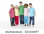 group of young children in... | Shutterstock . vector #32133697