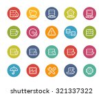 network and server icons   ... | Shutterstock .eps vector #321337322