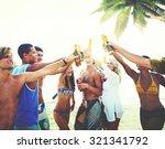 friends beach party drinks...   Shutterstock . vector #321341792