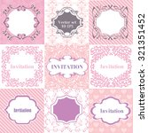 collection pink frames  cards ... | Shutterstock .eps vector #321351452