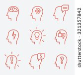 human mind icons  thin line... | Shutterstock .eps vector #321357842