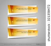 modern vector banners as glossy ...   Shutterstock .eps vector #321358472