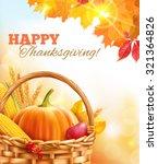 sunny thanksgiving day... | Shutterstock .eps vector #321364826