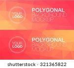 horizontal  polygonal banners | Shutterstock .eps vector #321365822