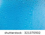 water drops on glass in blue... | Shutterstock . vector #321370502