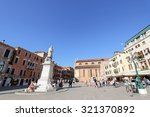 Small photo of VENICE, ITALY - SEPTEMBER 2014 : People at Statue of Nicolo Tommaseo monument in Venice, Italy on September 14, 2014. Nicolo Tommaseo was a linguist, journalist, essayist, and Italian irredentism