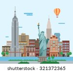 illustration of new york city ... | Shutterstock .eps vector #321372365