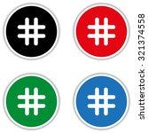 hashtags   black vector icon | Shutterstock .eps vector #321374558