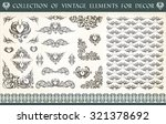 great collection  set of... | Shutterstock .eps vector #321378692