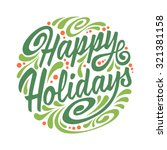 holidays greeting card with... | Shutterstock . vector #321381158