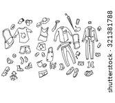 men's clothing | Shutterstock .eps vector #321381788