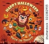 vintage halloween poster design ...   Shutterstock .eps vector #321382955