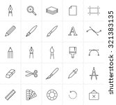 designer tools icon set. vector ... | Shutterstock .eps vector #321383135