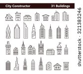 cityscape constructor and city... | Shutterstock .eps vector #321383246