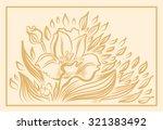 narcissus spring flower drawing....   Shutterstock .eps vector #321383492