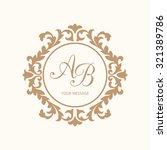 elegant floral monogram design... | Shutterstock .eps vector #321389786
